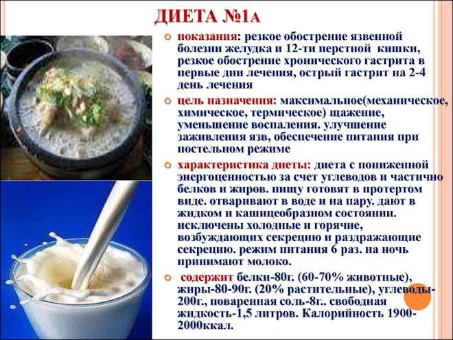 диета № 1 А