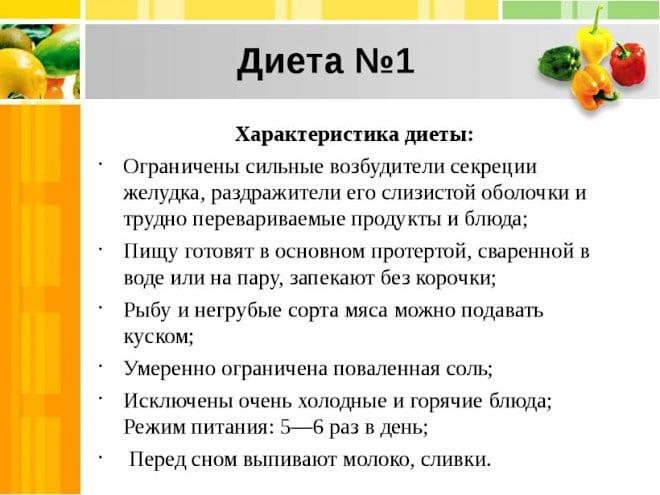 диета № 1