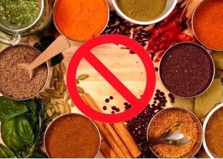 Какие овощи запрещены