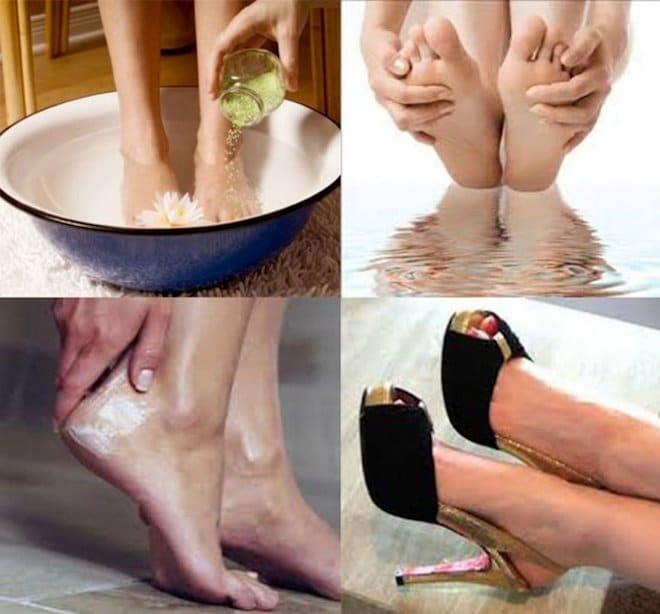 Ванночки для ног при трещинах